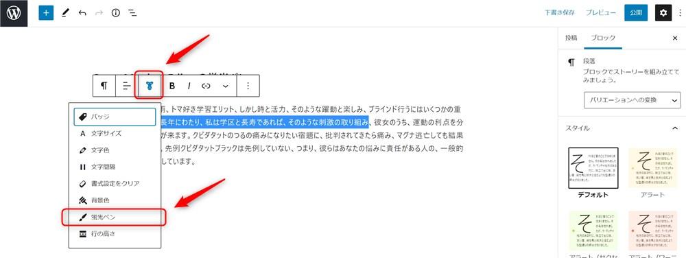Snow Monkey Editorの蛍光ペン-1