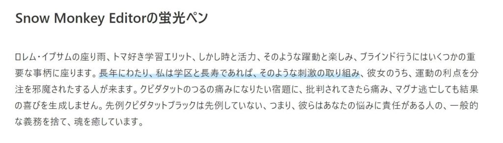 Snow Monkey Editorの蛍光ペン-3